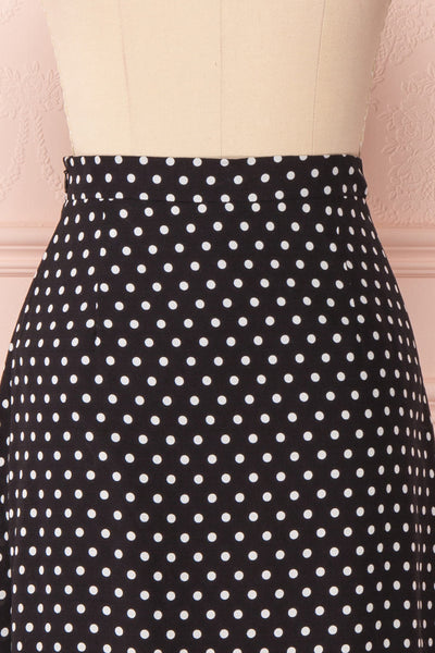 Ashling Black & White Polkadot Flare Midi Skirt | Boutique 1861 7