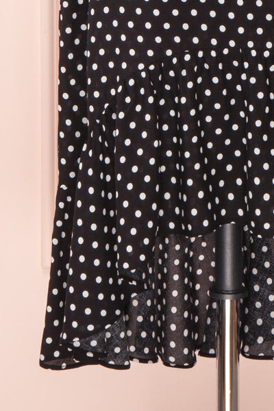 Ashling Black & White Polkadot Flare Midi Skirt | Boutique 1861 2