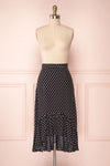 Ashling Black & White Polka Dot Flare Midi Skirt | Boutique 1861