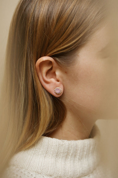Aster Rosa | Pink Crystal Stud Earrings