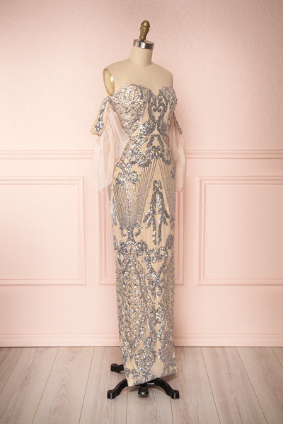 Asteria Mermaid Sequin Gown | Robe Sirène | Boutique 1861 side view
