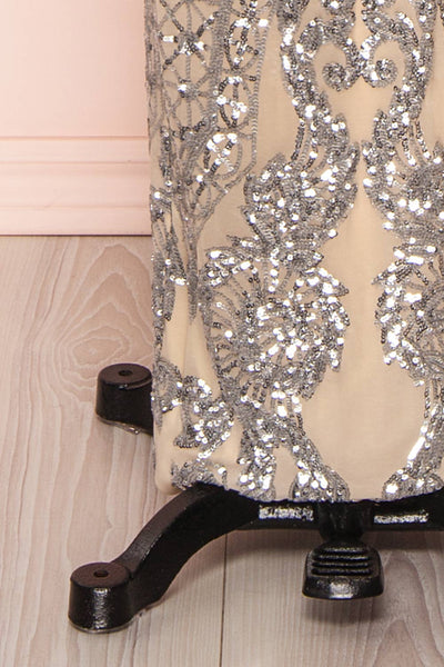 Asteria Mermaid Sequin Gown | Robe Sirène | Boutique 1861 bottom close-up