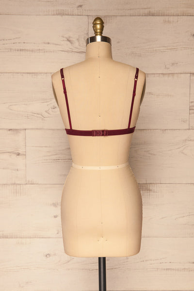 Ati Bourgogne Burgundy Lace Bralette | Boutique 1861 back view