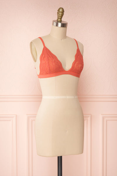 Ati Coral Orange Lace Bralette | Boutique 1861 side view