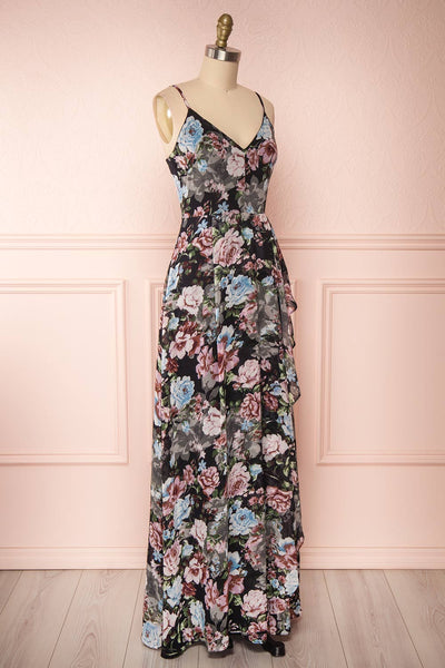 Aumakua Floral Maxi Wrap Dress | Robe Fleurie | Boutique 1861 side view