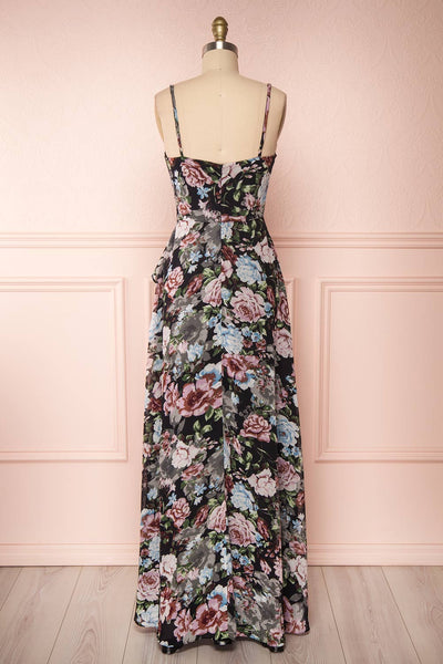Aumakua Floral Maxi Wrap Dress | Robe Fleurie | Boutique 1861 back view