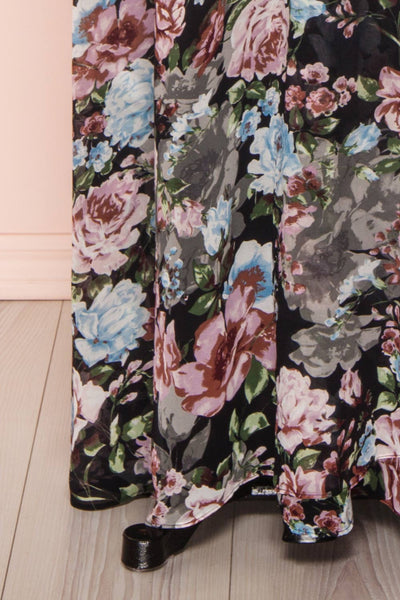 Aumakua Floral Maxi Wrap Dress | Robe Fleurie | Boutique 1861 bottom close-up