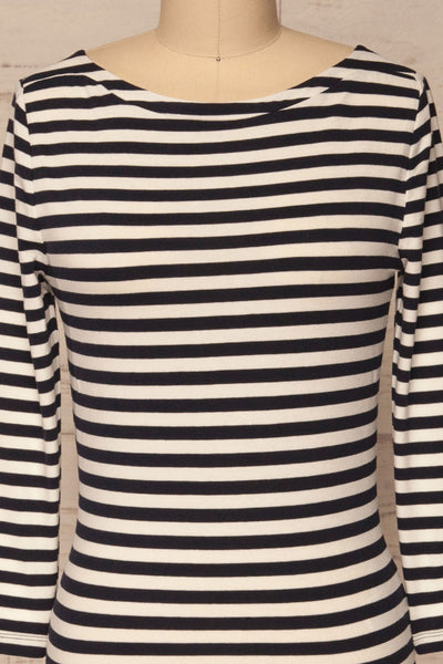 Austad Rain Navy Blue & White Striped Top | La Petite Garçonne 2