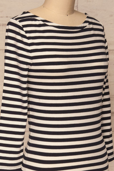 Austad Rain Navy Blue & White Striped Top | La Petite Garçonne 4