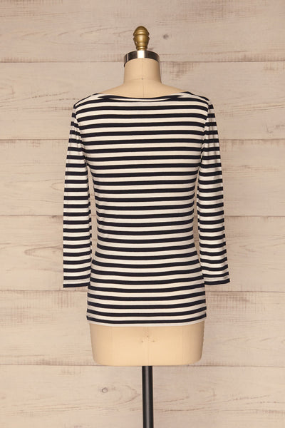 Austad Rain Navy Blue & White Striped Top | La Petite Garçonne 5
