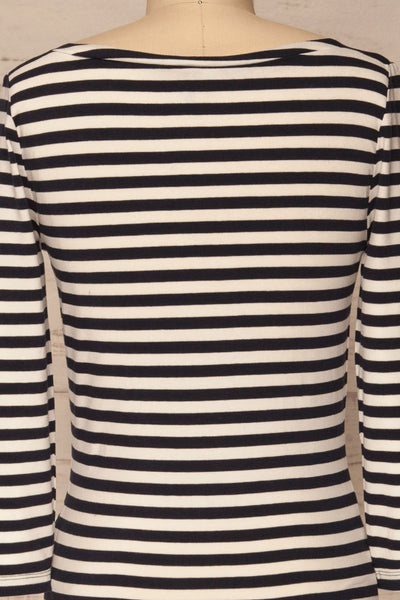 Austad Rain Navy Blue & White Striped Top | La Petite Garçonne 6
