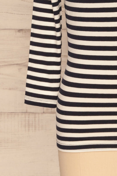 Austad Rain Navy Blue & White Striped Top | La Petite Garçonne 7
