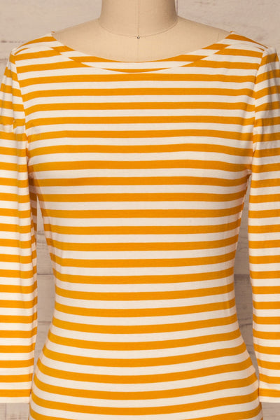 Austad Sun Mustard Yellow & White Striped Top | La Petite Garçonne 2