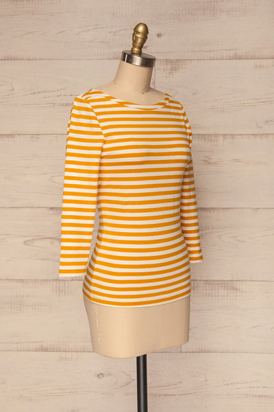 Austad Sun Mustard Yellow & White Striped Top | La Petite Garçonne 3