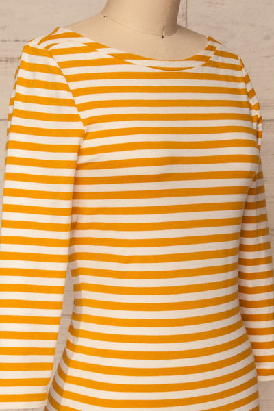 Austad Sun Mustard Yellow & White Striped Top | La Petite Garçonne 4