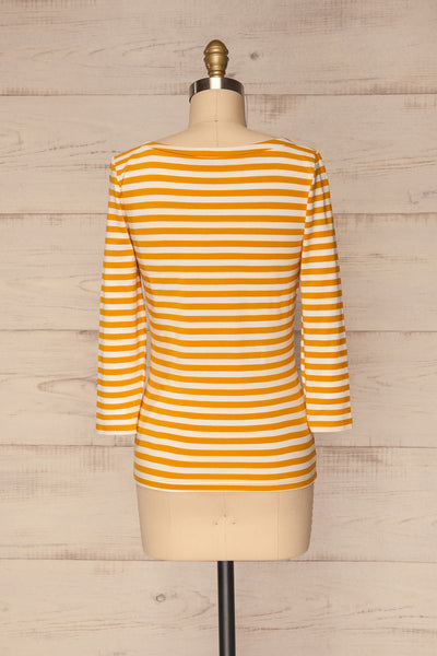 Austad Sun Mustard Yellow & White Striped Top | La Petite Garçonne 5