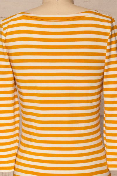 Austad Sun Mustard Yellow & White Striped Top | La Petite Garçonne 6