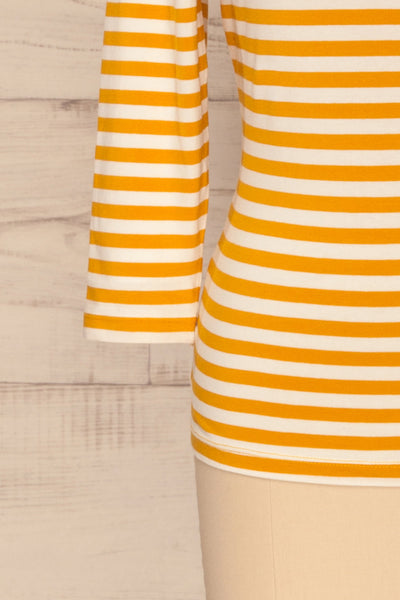 Austad Sun Mustard Yellow & White Striped Top | La Petite Garçonne 7