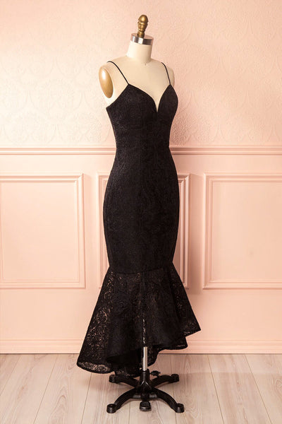 Avera Black Mermaid Tulle Dress with Embroideries | Boutique 1861 3