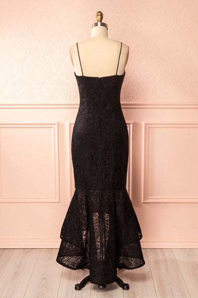 Avera Black Mermaid Tulle Dress with Embroideries | Boutique 1861 5