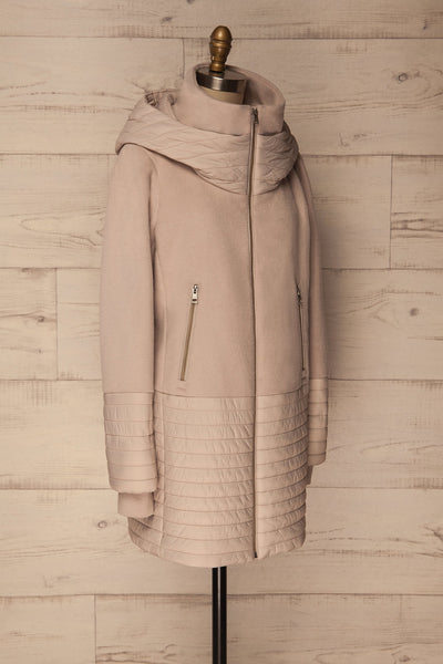 Averie Porcelain | Quilted Parka