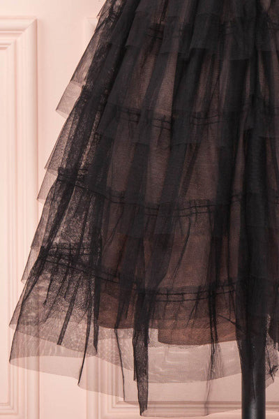 Ayten Secret Black Floral Tulle A-Line Dress | Boutique 1861 8