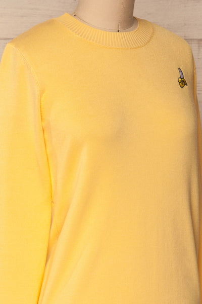 Bananah Yellow Embroidered Knit Sweater | La Petite Garçonne 6