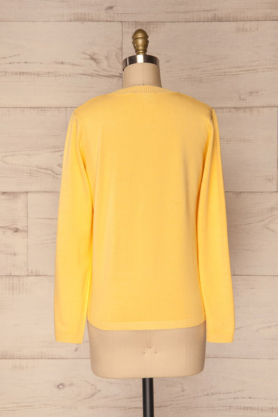 Bananah Yellow Embroidered Knit Sweater | La Petite Garçonne 7