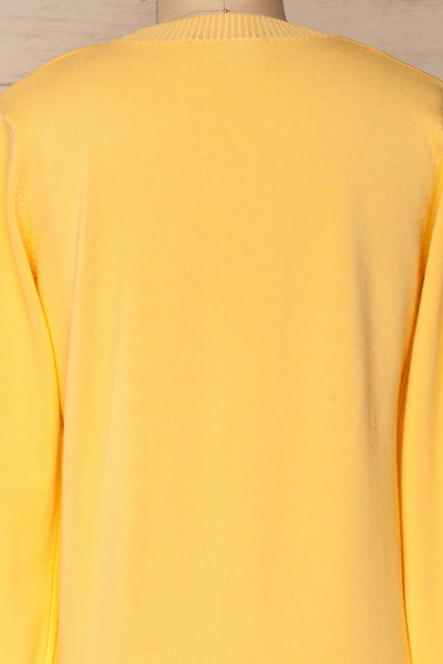 Bananah Yellow Embroidered Knit Sweater | La Petite Garçonne 8