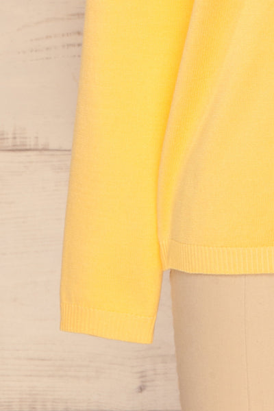 Bananah Yellow Embroidered Knit Sweater | La Petite Garçonne 9