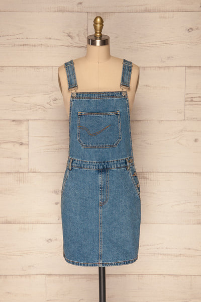 Banepo Light Blue Denim A-Line Pinafore Dress | La Petite Garçonne 1