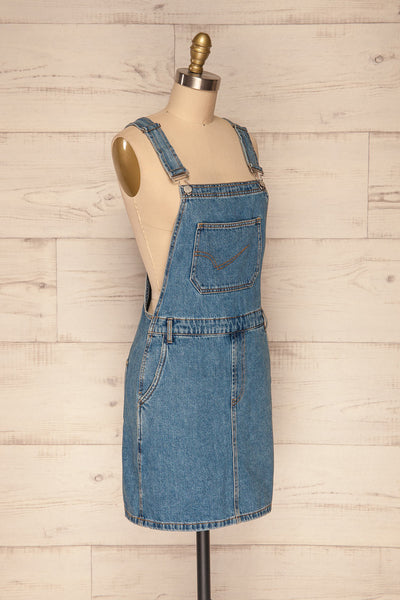 Banepo Light Blue Denim A-Line Pinafore Dress | La Petite Garçonne 3
