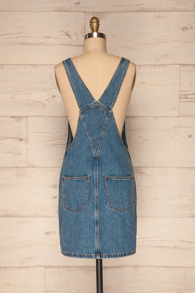 Banepo Light Blue Denim A-Line Pinafore Dress | La Petite Garçonne 5