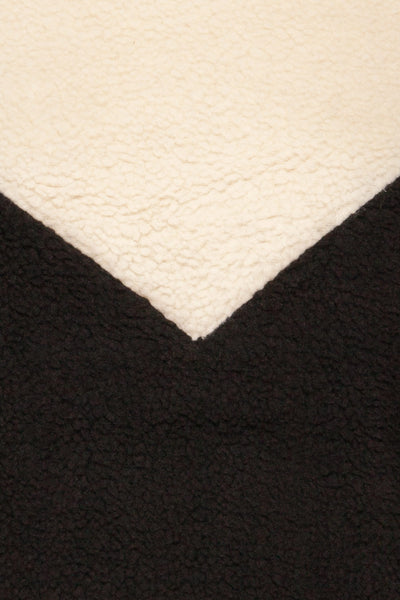 Banff Black & White Wooly Fleece Sweater | La Petite Garçonne fabric detail