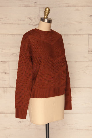 Banife Curry Brown Knit Sweater side view | La Petite Garçonne