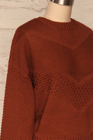 Banife Curry Brown Knit Sweater side close-up | La Petite Garçonne