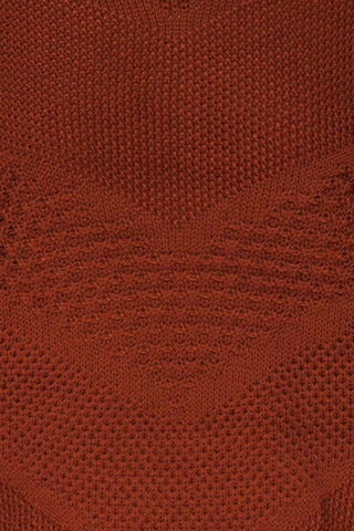 Banife Curry Brown Knit Sweater fabric details | La Petite Garçonne