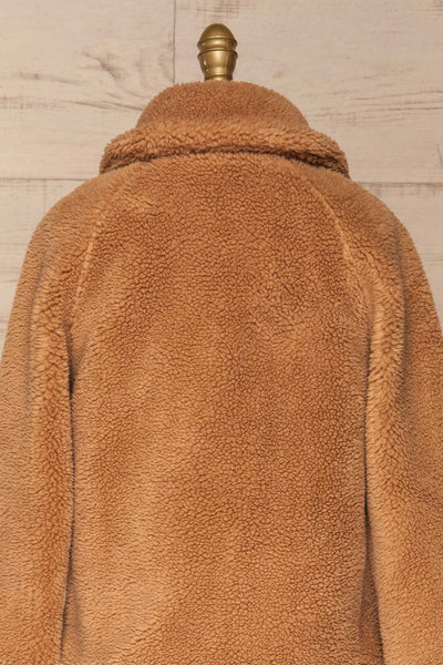 Bantigny Gingembre Beige Wooly Fleece Coat | La Petite Garçonne back close-up