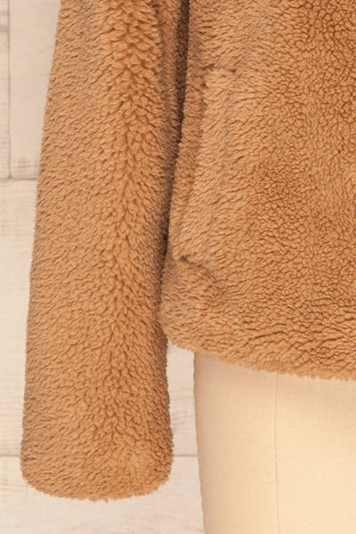 Bantigny Gingembre Beige Wooly Fleece Coat | La Petite Garçonne bottom close-up