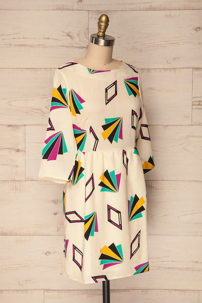 Bapska Colourfully Patterned Short A-Line Dress | La Petite Garçonne 3