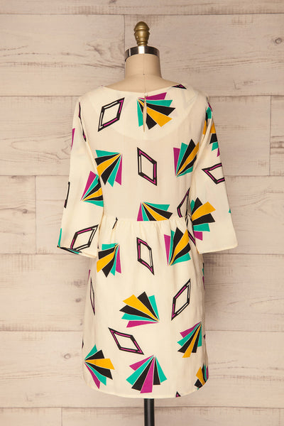 Bapska Colourfully Patterned Short A-Line Dress | La Petite Garçonne 5