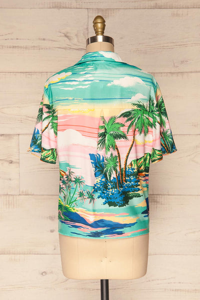 Barbados Colorful Tropical Short Sleeved Shirt | La Petite Garçonne 5