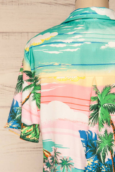 Barbados Colorful Tropical Short Sleeved Shirt | La Petite Garçonne 6