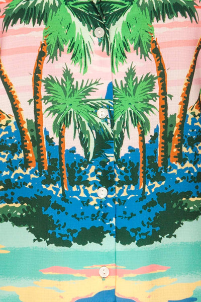 Barbados Colorful Tropical Short Sleeved Shirt | La Petite Garçonne 8