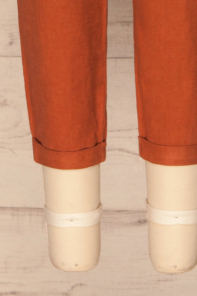 Barbascal Rust Orange Cropped Pants | La petite garçonne bottom