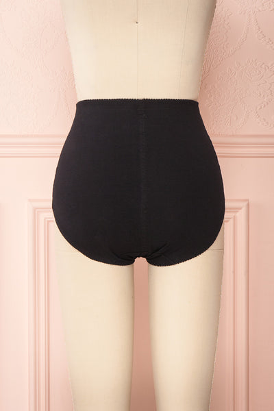 Bazyli Coal Black High-Waist Brief with Pocket | Boutique 1861