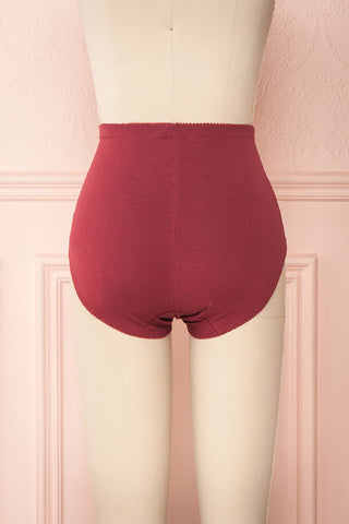 Bazyli Cranberry Red High-Waist Brief with Pocket | Boutique 1861