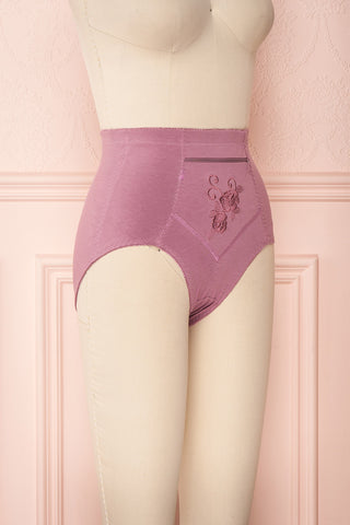 Bazyli Petal Purple High-Waist Brief with Pocket | Boutique 1861
