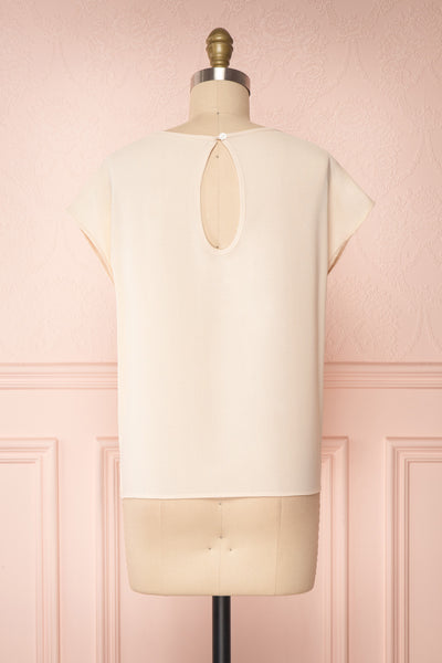 Benedikte Beige T-Shirt w/ Birds | Boutique 1861 back view