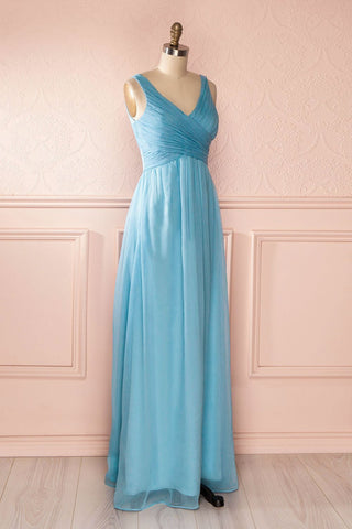 Beomia Topaz - Light blue gown with veil lining 4